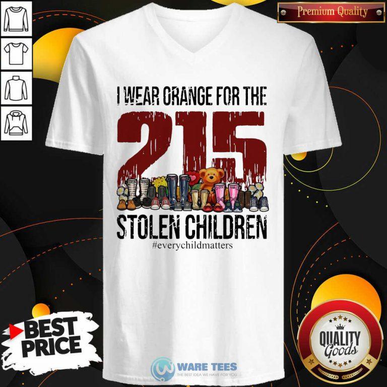 I Wear Orange For The 215 Stolen Children V-neck