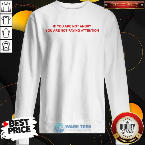 If You Are Not Angry You Are Not Paying Attention Sweatshirt