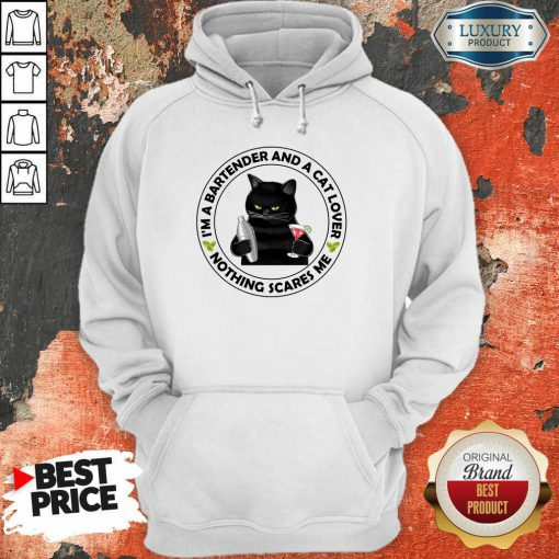 I'm A Bartender And A Cat Lover Hoodie