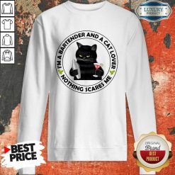 I'm A Bartender And A Cat Lover Sweatshirt