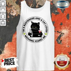 I'm A Bartender And A Cat Lover Tank Top