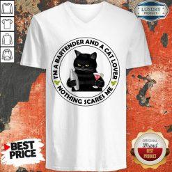 I'm A Bartender And A Cat Lover V-neck