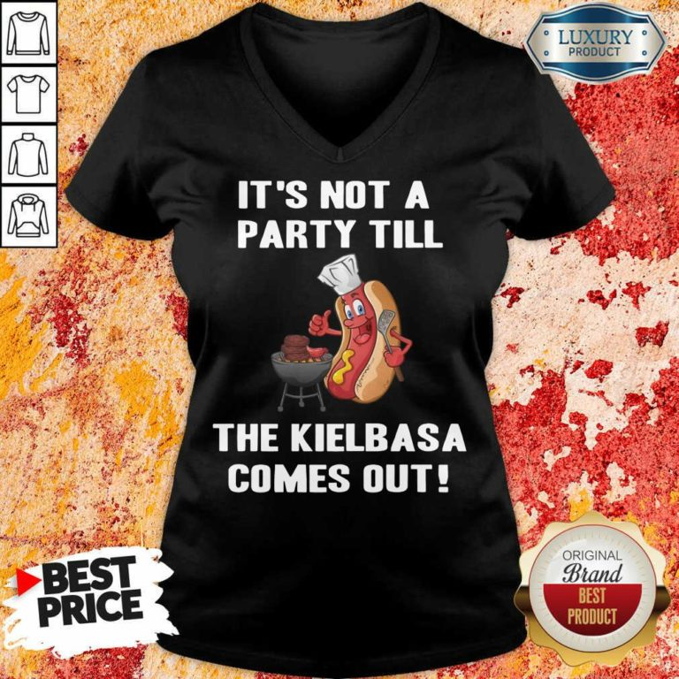It's Not A Party Till The Kielbasa V-neck