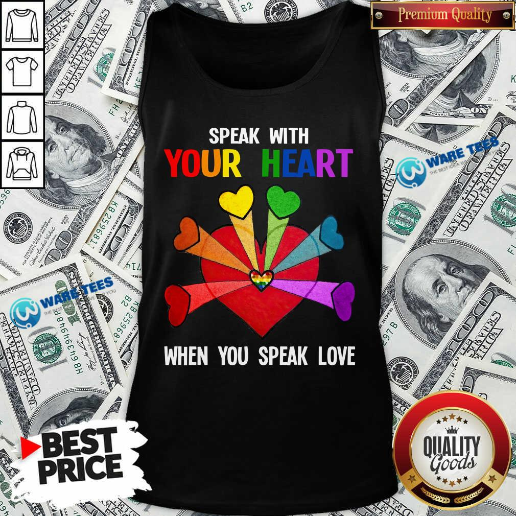 LGBT Speak With Your Love Tank Top