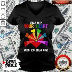 LGBT Speak With Your Love V-neck