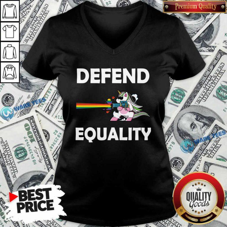 LGBT Unicorn Defend Equality V-neck