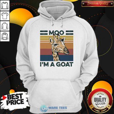 Moo Im A Goat Animals Vintage Hoodie