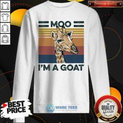 Moo Im A Goat Animals Vintage Sweatshirt