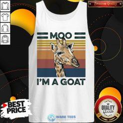 Moo Im A Goat Animals Vintage Tank Top