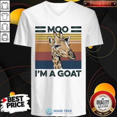 Moo Im A Goat Animals Vintage V-neck