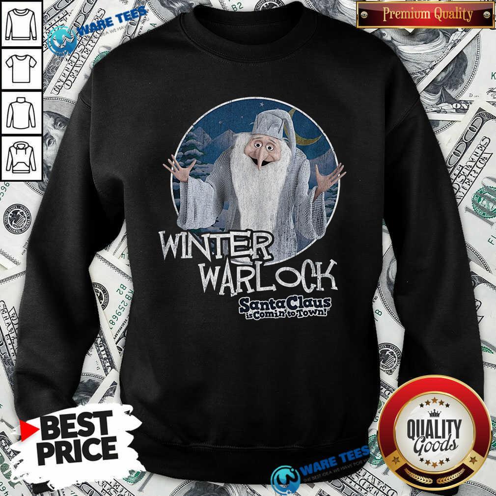 Nice Santa Claus Is Comin To Town Winter Warlock Sweatshirt