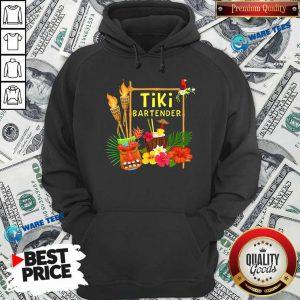 Nice Tiki Bartender Tiki Head Tiki Torches Parrot Tropical Flower Hoodie