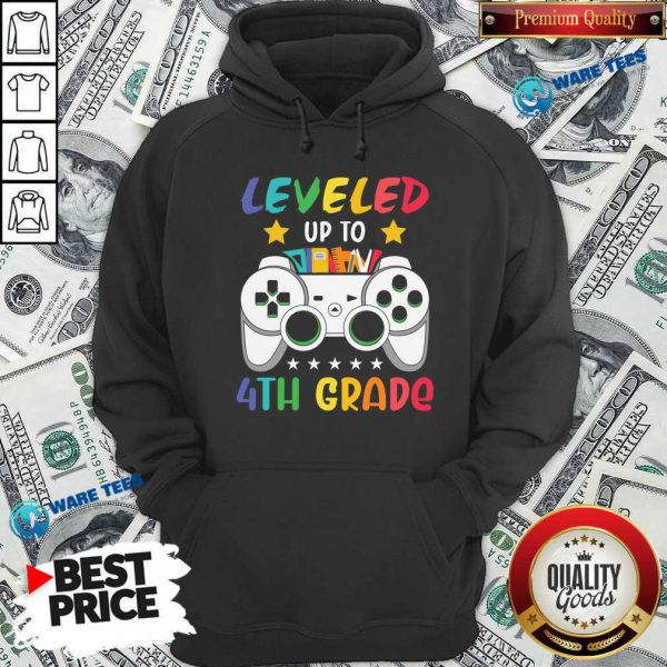 Original Game Console Leveled Up To 4th Grade Hoodie