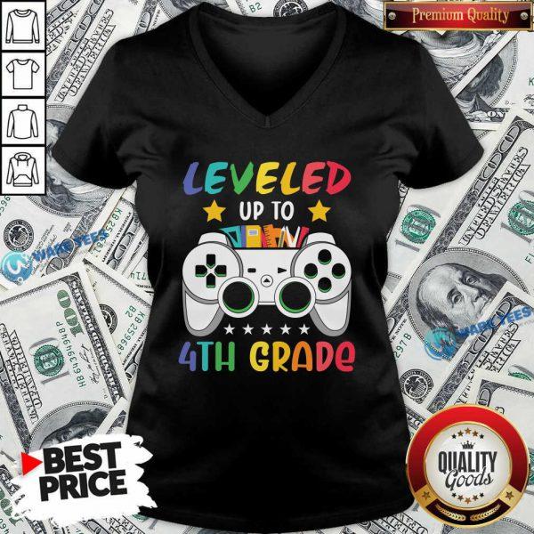 Original Game Console Leveled Up To 4th Grade V-neck