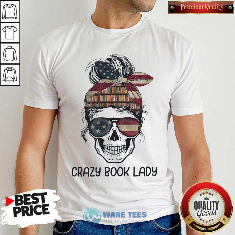 Skull Girl Crazy Book Crazy Hoodie
