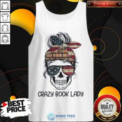 Skull Girl Crazy Book Crazy Tank Top