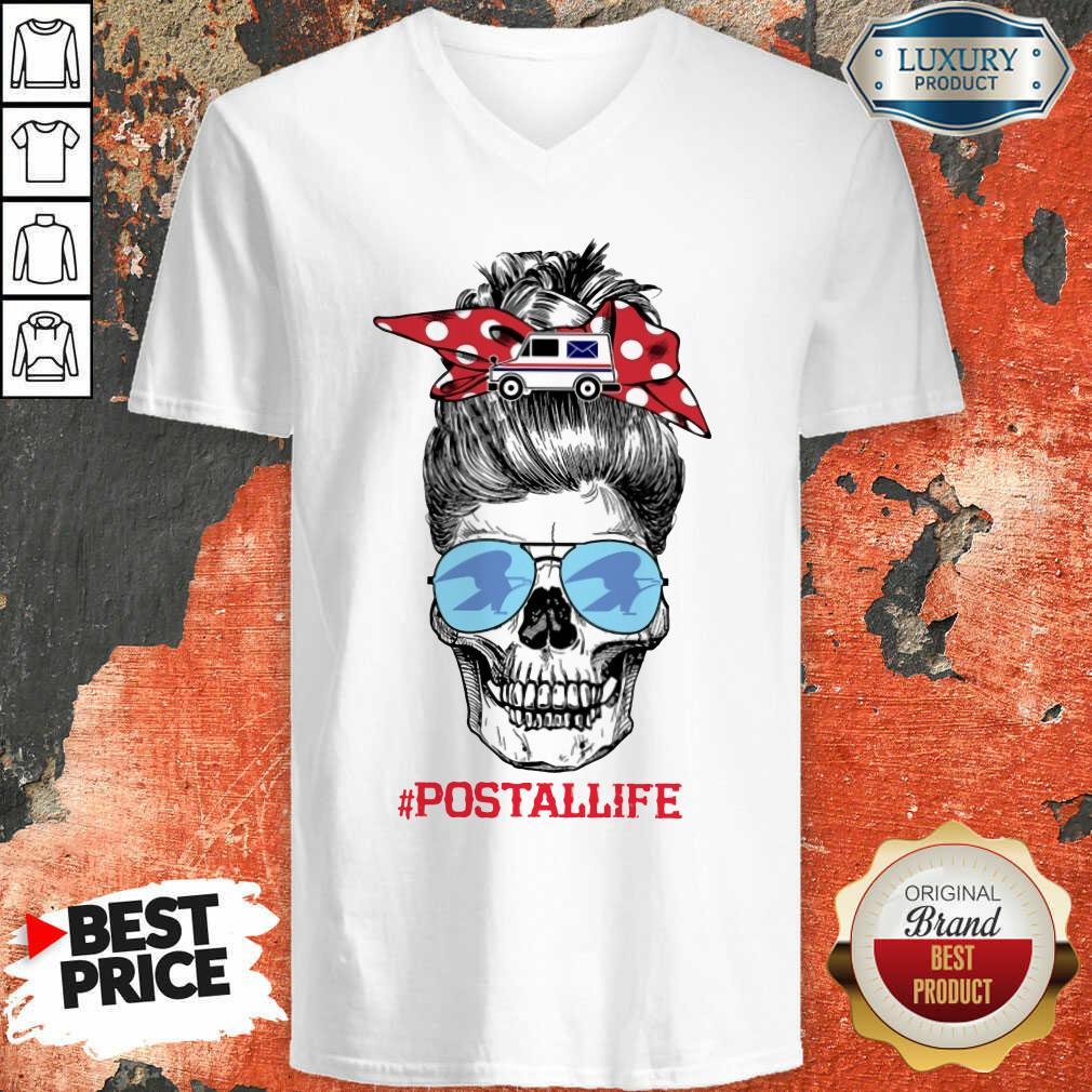 Skull Postal Life V-neck