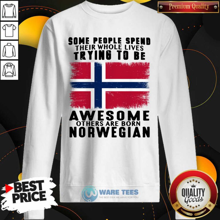 Some People Spend Trying To Be Awesome Norwegian Sweatshirt