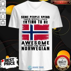 Some People Spend Trying To Be Awesome Norwegian V-neck