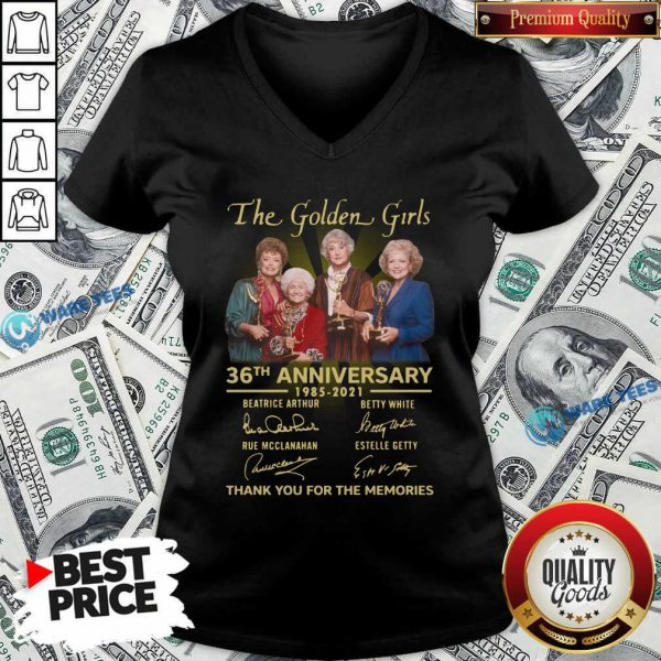 The Golden Girls 36th Anniversary 1985 - 2021 Thank You For The Memories V-neck