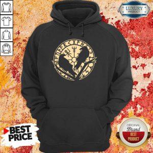 Crow Rune Viking Lover Hoodie