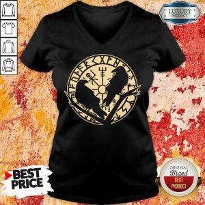 Crow Rune Viking Lover V-neck
