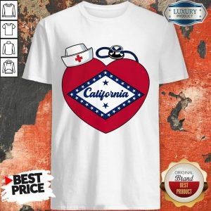 Heart Nurse Medical Stethoscope California Shirt