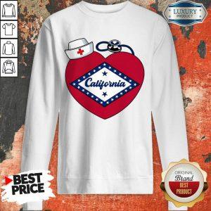 Heart Nurse Medical Stethoscope California Sweatshirt