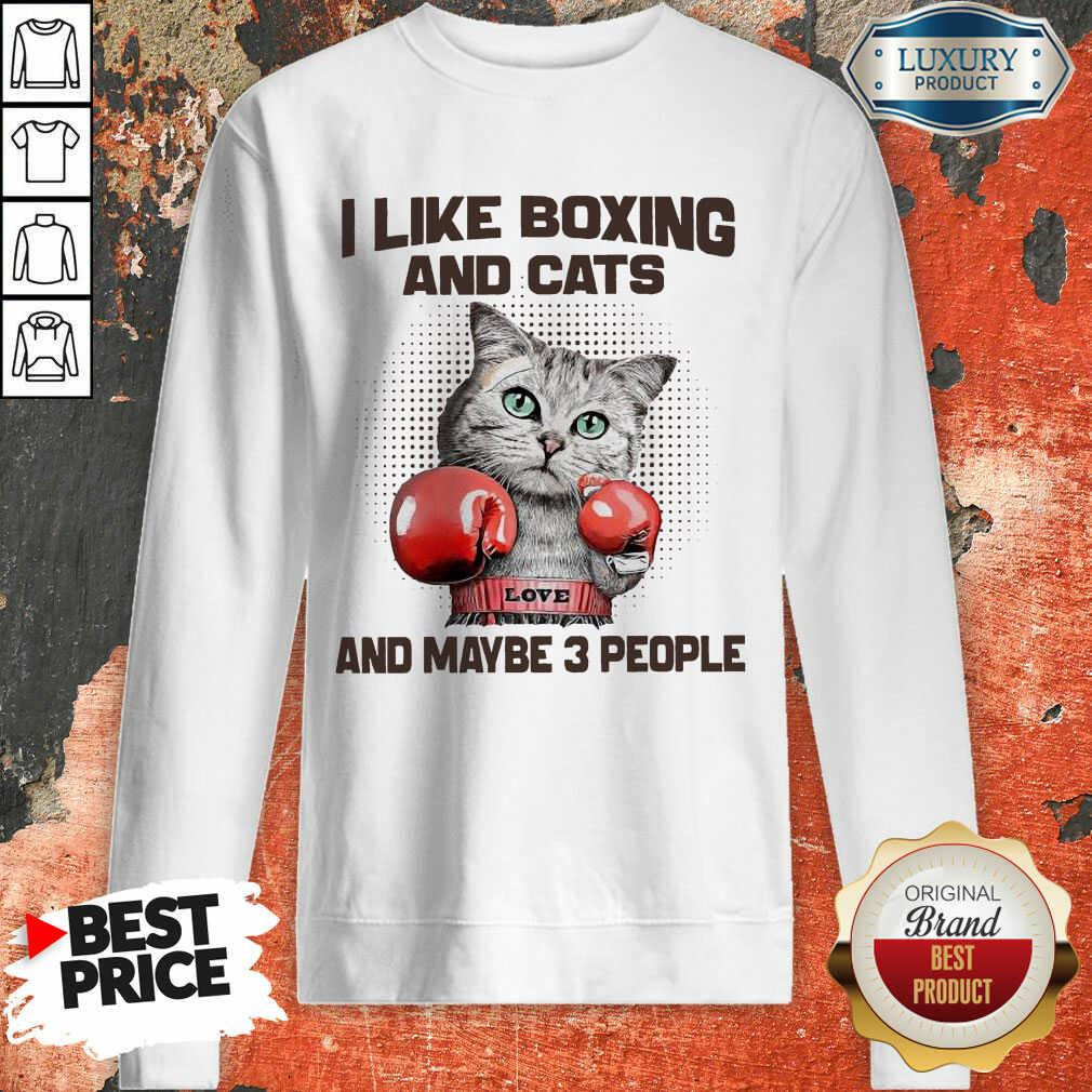 I Like Boxing And Cats And Maybe 3 People Sweatshirt