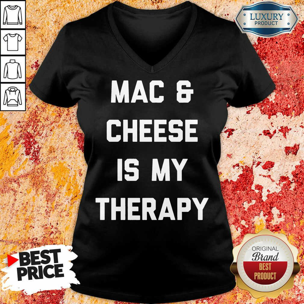Mac And Cheese Is My Therapy V-neck
