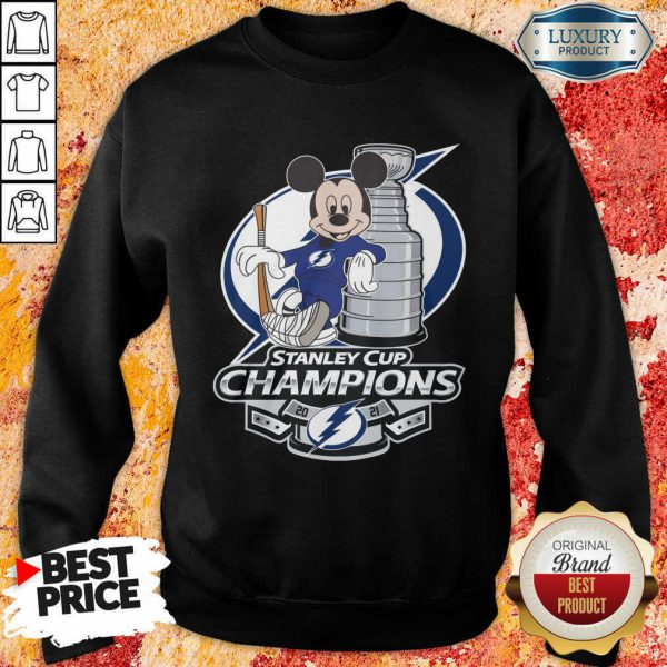 Mickey Mouse Stanley Cup Champions 2021 Sweatshirt
