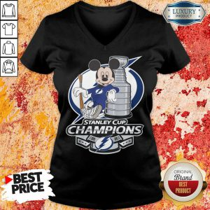 Mickey Mouse Stanley Cup Champions 2021 V-neck