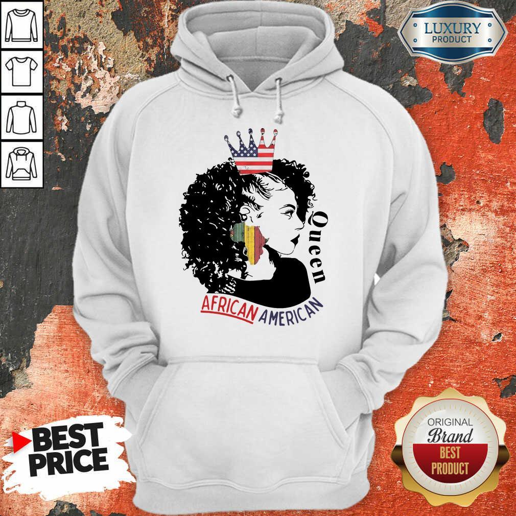 Queen African American Flag Hoodie
