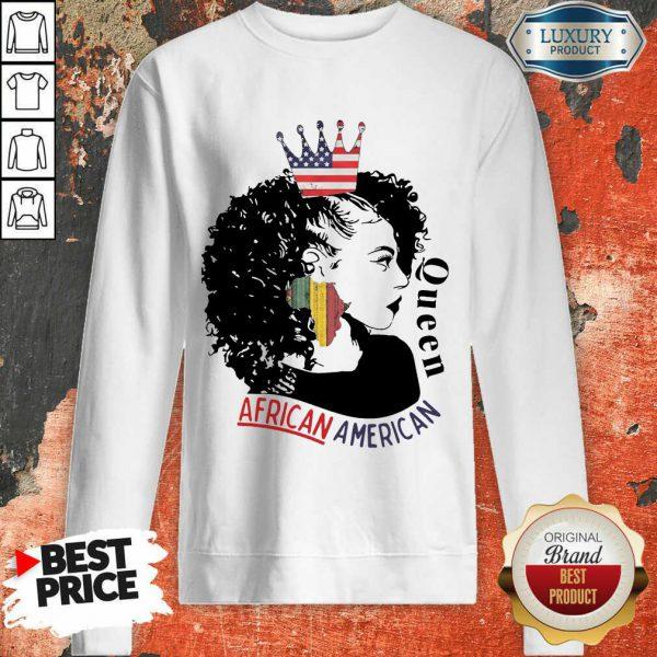 Queen African American Flag Sweatshirt