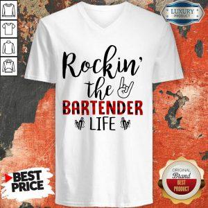 Rockin The Bartender Life V-neck