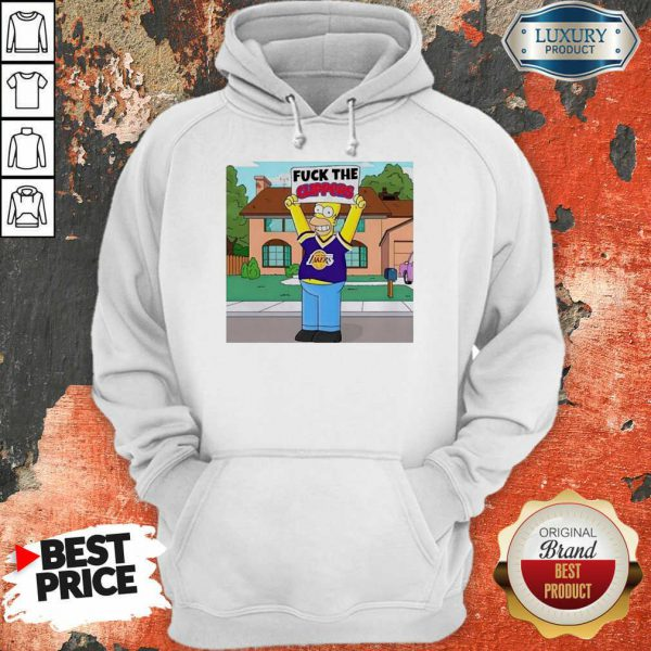 Simpson Los Angeles Lakers Fuck The Clippers Hoodie