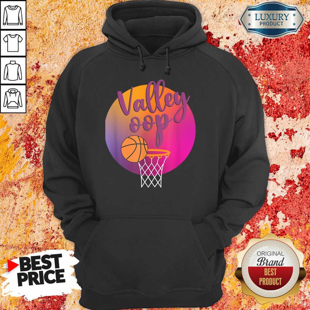 The Valley Oop Phoenix Basketball Retro Sunset Hoodie