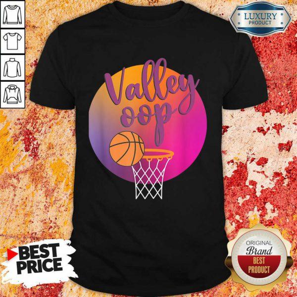 The Valley Oop Phoenix Basketball Retro Sunset Shirt