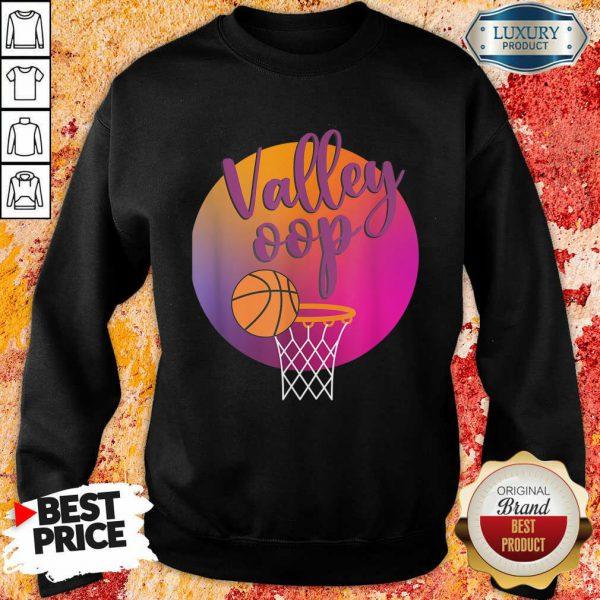 The Valley Oop Phoenix Basketball Retro Sunset Sweatshirt