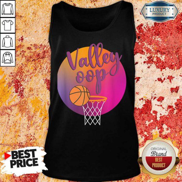 The Valley Oop Phoenix Basketball Retro Sunset Tank Top