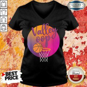 The Valley Oop Phoenix Basketball Retro Sunset V-neck